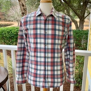Marine Layer Plaid Long Sleeve Shirt. Small